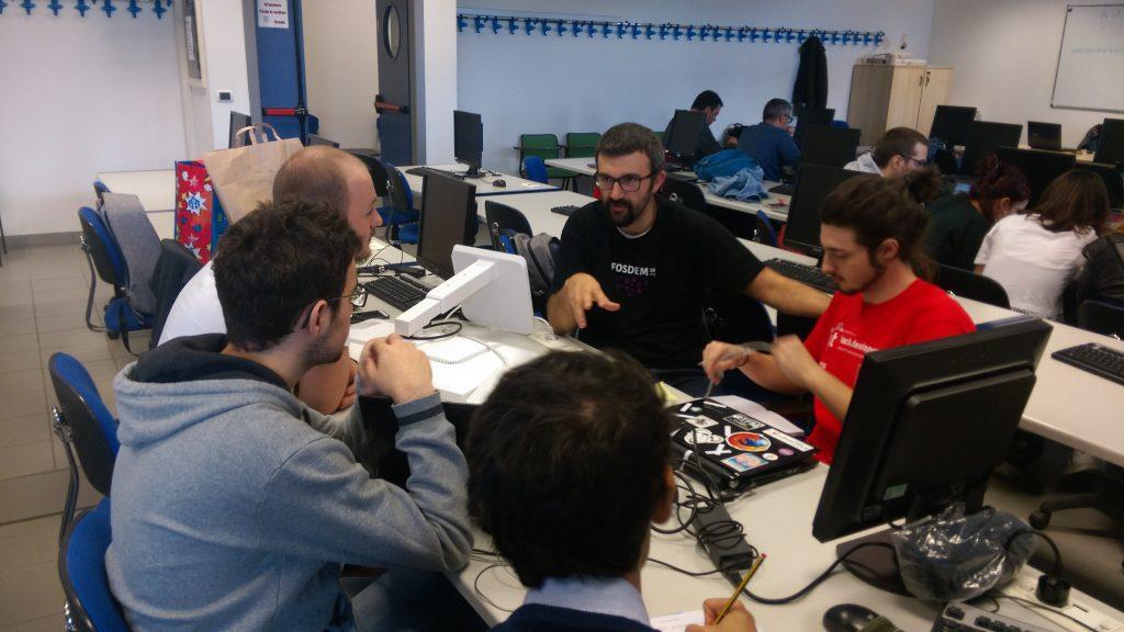 team lavoro all'hackathon
