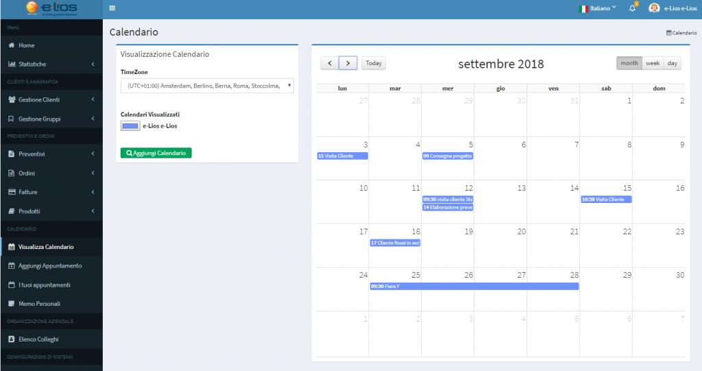 crm calendario