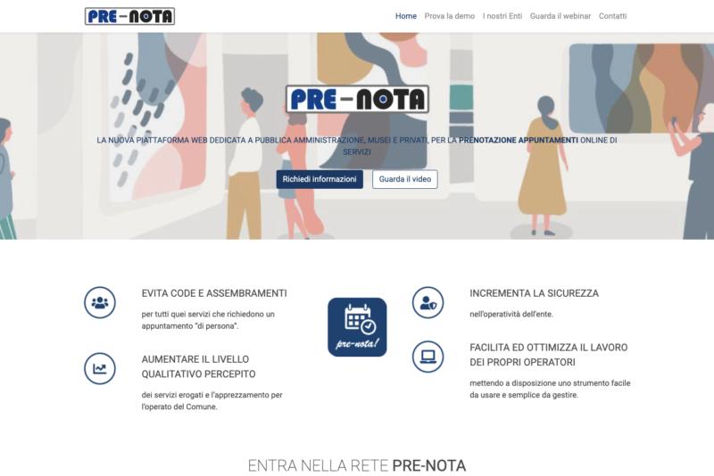 Programma gestione appuntamenti, PRE-NOTA